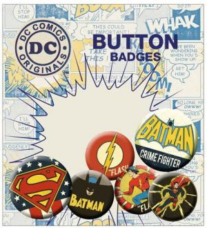 DC Comics Pin Badges 6-Pack Retro