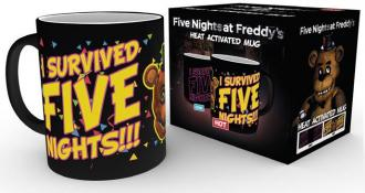 Five Nights at Freddy's Heat Change Mug I Survived