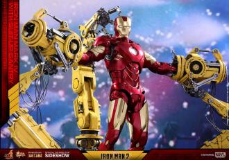Iron Man 2 Diecast Movie Masterpiece Action Figure 1/6 Iron Man Mark IV & Suit-up Gantry