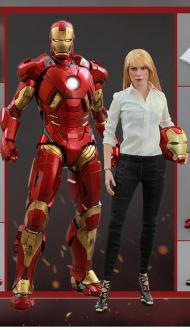 Iron Man 3 Figure 2-Pack 1/6 Mark IX & Pepper Potts