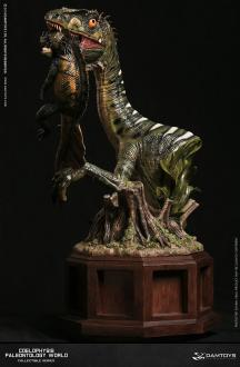 Paleontology World Museum Collection Series Statue Coelophysis Green Ver. 42 cm