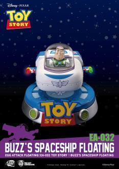 Toy Story Egg Attack Floating Model with Light Up Function Buzz' Spaceship 13 cm