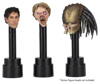 NECA Action Figure Head Display Stands black (3)
