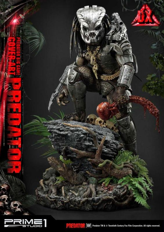 Predator Statue Big Game Cover Art Predator Deluxe Version 72 cm