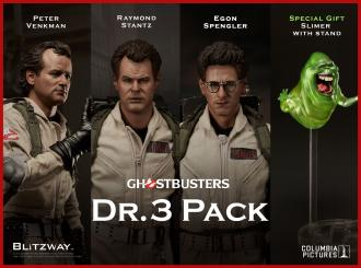 Ghostbusters Action Figures 1/6 Dr. 3 Pack 30 cm