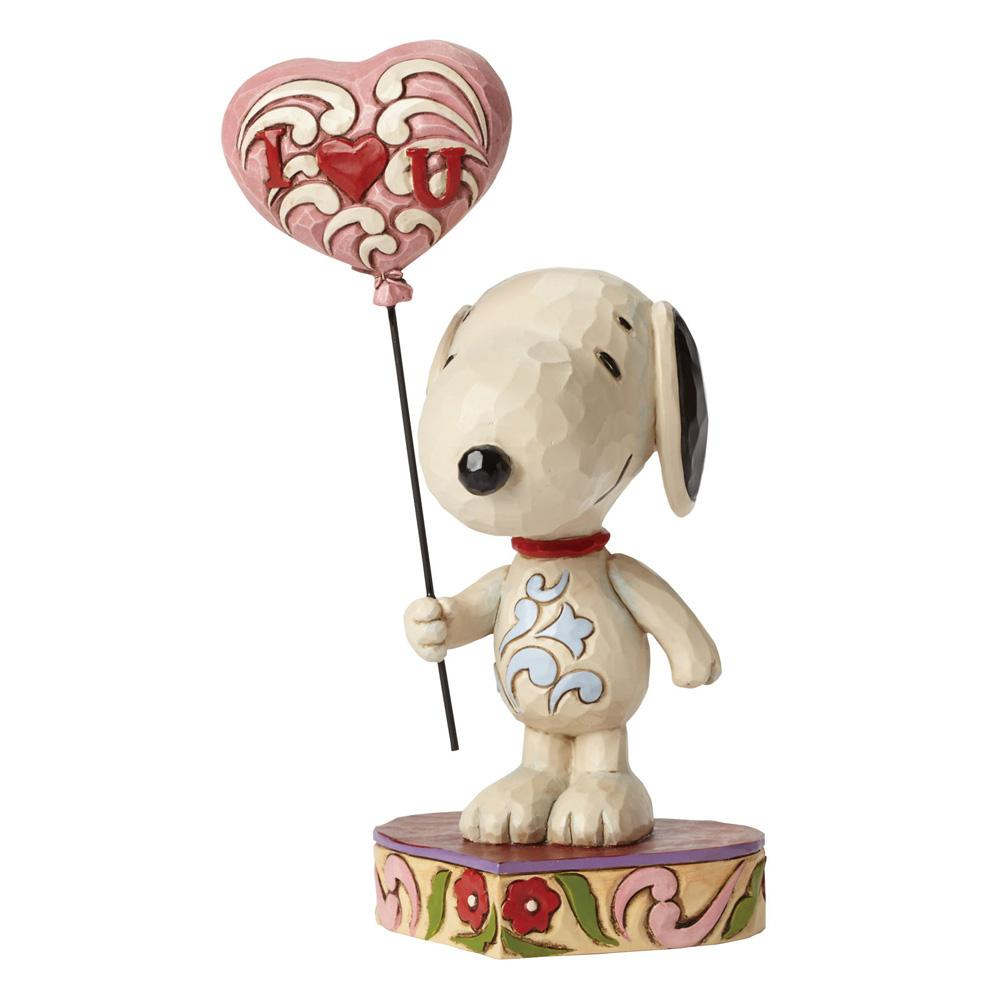 I Heart You (Love Snoopy with heart balloon) 20 cm