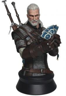 Witcher 3 Wild Hunt Bust Geralt Playing Gwent 23 cm